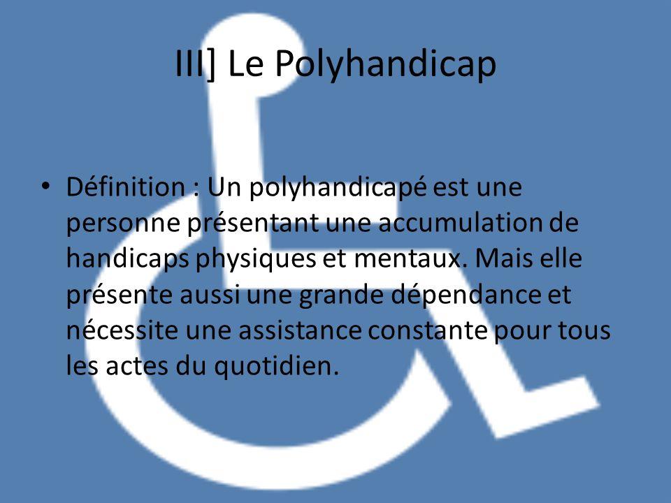III] Le Polyhandicap